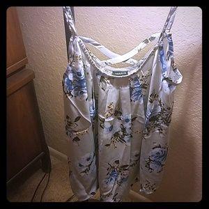 Camisole flower print top